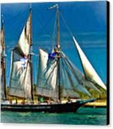 Tall Ship Vignette Canvas Print by Steve Harrington