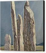 Tall Stones Of Callanish Isle Of Lewis Canvas Print by Evangeline Dickson