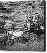 Tallyho Stagecoach Party C. 1889 Canvas Print by Daniel Hagerman