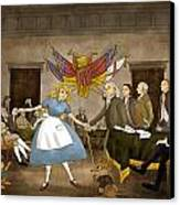 Tammy In Independence Hall Canvas Print by Reynold Jay