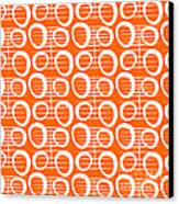 Tangerine Loop Canvas Print