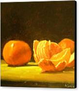 Tangerines Canvas Print by Ann Simons