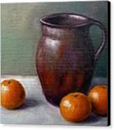 Tangerines Canvas Print by Janet King