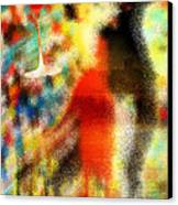 Tango As The Sunset Canvas Print by Kenal Louis
