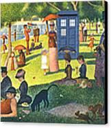 Tardis V Georges Seurat Canvas Print by GP Abrajano