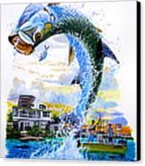 Tarpon Leap Canvas Print