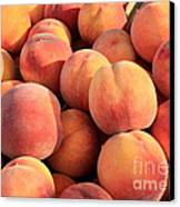 Tasty Peaches Canvas Print by Carol Groenen