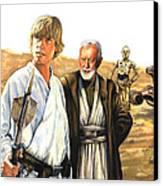 Tatooine Massacre Canvas Print by Edward Draganski