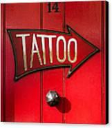 Tattoo Door Canvas Print by Tim Gainey