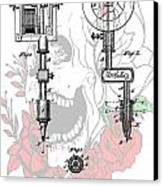 Tattoo Machine Patent Canvas Print by Dan Sproul