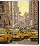 taxi a New York Canvas Print by Guido Borelli