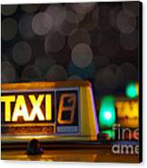 Taxi Signs Canvas Print