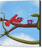Tea And Eggs Canvas Print