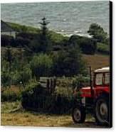 Tea Break Tractor Canvas Print