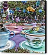 Tea Cup Ride Fantasyland Disneyland Canvas Print by Thomas Woolworth