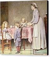 Tea Time Canvas Print by George Goodwin Kilburne
