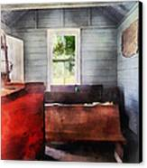 Teacher - One Room Schoolhouse With Hurricane Lamp Canvas Print by Susan Savad