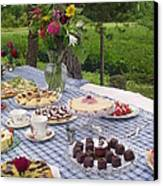 Teatime In The Garden Canvas Print