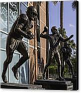 Tebow Spurrier And Wuerffel Uf Heisman Winners Canvas Print
