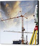 Technology And Construction Canvas Print by Christian Lagereek