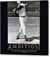 Ted Williams Ambition Canvas Print