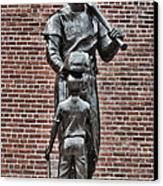 Ted Williams Statue - Boston Canvas Print by Joann Vitali