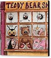 Teddy Bear Shop Canvas Print by Lucia Stewart