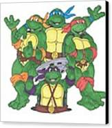 Teenage Mutant Ninja Turtles  Canvas Print by Yael Rosen