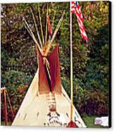 Teepee Canvas Print by Marty Koch