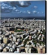 Tel Aviv Center Canvas Print by Ron Shoshani