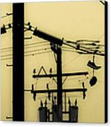 Telephone Pole And Sneakers 5 Canvas Print by Scott Campbell
