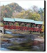 Tellico Bridge In Fall Canvas Print by Regina McLeroy