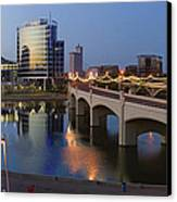 Tempe Town Lake Pano Canvas Print by Dave Dilli