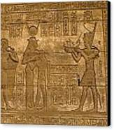 Temple At Denderah Egypt Canvas Print by Brenda Kean