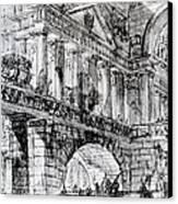Temple Courtyard Canvas Print by Giovanni Battista Piranesi