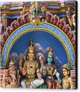 Temple Deity Statues India Canvas Print