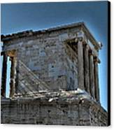 Temple Of Athena Nike Canvas Print by James R Martin