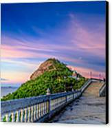 Temple Sunset Canvas Print
