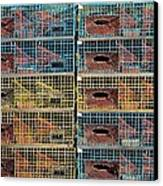 Ten Lobster Traps Canvas Print by Stuart Litoff