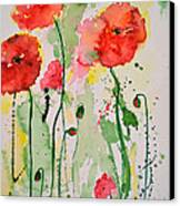 Tender Poppies - Flower Canvas Print by Ismeta Gruenwald