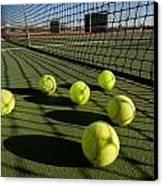Tennis Balls And Court Canvas Print by Joe Belanger