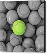 Tennis Balls Background Texture Canvas Print by Phaitoon Sutunyawatcahi