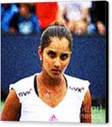 Tennis Player Sania Mirza Canvas Print by Nishanth Gopinathan
