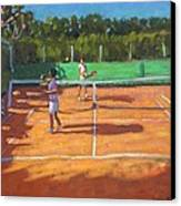 Tennis Practice Canvas Print