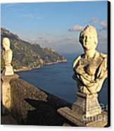 Terrace Of Infinity In Ravello On Amalfi Coast Canvas Print