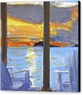 Terrace Sunset Canvas Print