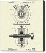 Tesla Generator 1891 Patent Art Canvas Print by Prior Art Design