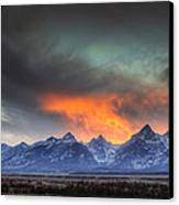 Teton Explosion Canvas Print by Mark Kiver