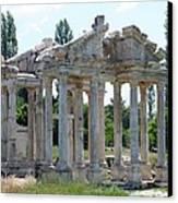 Tetrapylon The Arched Gate Of Aphrodisias Canvas Print by Tracey Harrington-Simpson