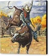 Texas Bull Rider Canvas Print by Jeff Brimley